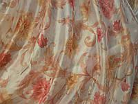 Микровуаль печать (цветочный принт )