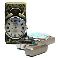 Зажигалка часы в виде будильника с подсветкой  (20)