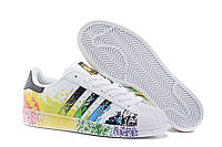 Кроссовки Adidas Superstar Rainbow Paint Splatter