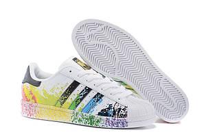 Кроссовки Adidas Superstar Rainbow Paint Splatter