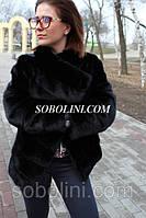 НОВАЯ КОЛЛЕКЦИЯ !!! полушубок канадской норки сканблэк темно-коричневая, длина 60см, 44,46 размеры