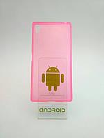 Ультра тонкий чехол Sony Z5 Premium розовый силиконовый для мобильного телефона.
