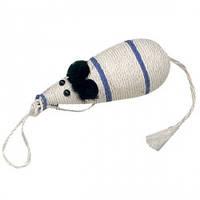 Когтеточка для кошек в виде мыши, сизаль, 10х33см Карли-Фламинго