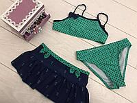 Купальник с юбкой для девочек Размеры 30-38 30