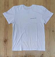 """Белая мужская футболка 100% хлопок """"TOMMY HILFIGER"""" с логотипом  ФМ-22"""