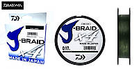 Шнур Daiwa J-Braid x4 Green 0.25 135m