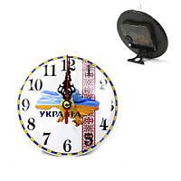 Часы маленькие  карта  Украины 10 см