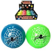 Мяч попрыгун паук в паутине светится мигает  (12)