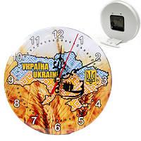 Часы  карта  Украины основатели 16 см