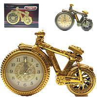 Часы настольные велосипед старинный с будильником 20x14 см