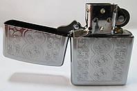 Зажигалка ZIPPO(28657) под сталь(хром) , глянец, рисунок - гравировка узор, фото 1