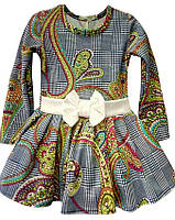 """Детское платье """"Бантик"""", р. 104-122, цветное"""