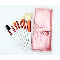 Домашний набор кистей для макияжа 7 шт - Make Up Me PINK-7 Розовый - PINK7