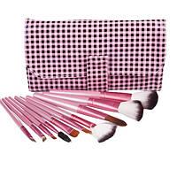 Набор кистей для макияжа 10 шт - Make Up Me KH-10 Клетка - KH-10