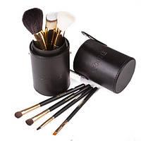 Набор кистей для макияжа 7 шт - Make Up Me TUBE-7-BLACK Черный - TUBE-7-BLACK