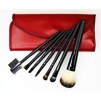 Набор кистей для макияжа 7 шт - Make Up Me B-7 Красный - B7-RED