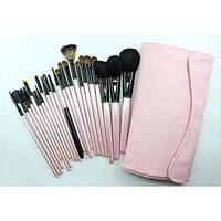 Набор натуральных кистей для макияжа 23 шт - Make Up Me B-23 Розовый - B23
