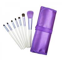 Набор кистей для макияжа 7 шт - Make Up Me PURPLE-7 Фиолетовый - PURPLE-7
