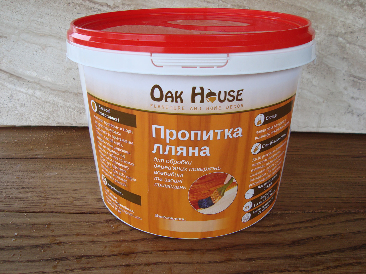 Пропитка древесины маслом для дерева  -  тм OaK House  в Тернополе