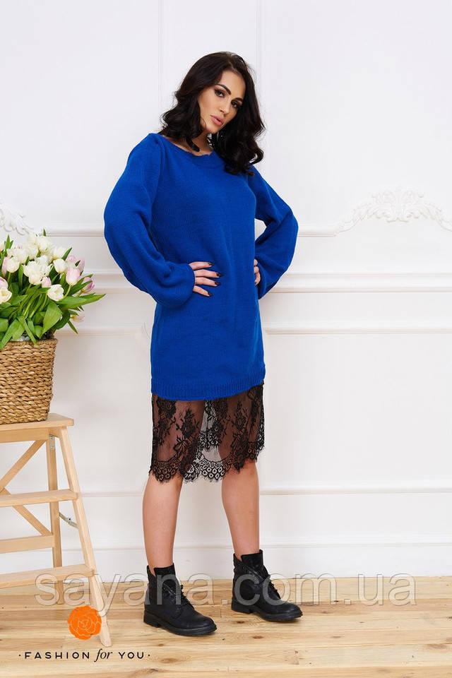 bf490d9cfd6 Женское стильное платье с французским кружевом