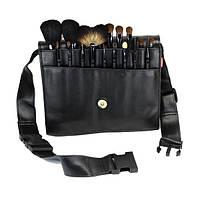 Набор натуральных кистей для макияжа на пояс 18 шт - Make Up Me BELT-18 Черный - BELT18