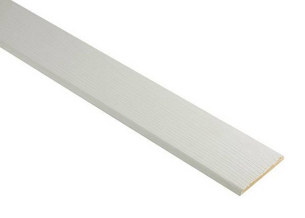Наличник Новый Стиль ПВХ De Luxe белый мат 64*6*2100 стоевая, фото 2