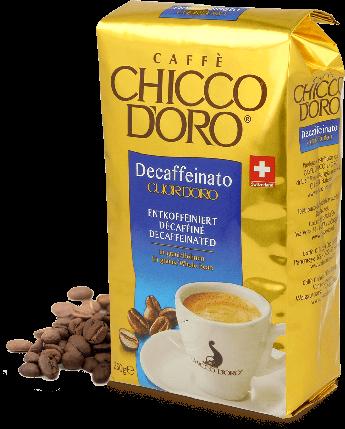 Кофе зерновой Chicco d'oro без кофеина Decaffeinato (100% Арабика) 250г, фото 2