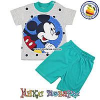 Летний костюм с Микки Маусом для мальчика Возраст: 9-12-18 месяцев (5175-2)