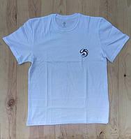 """Белая мужская футболка 100% хлопок """"Adidas"""" с логотипом  ФМ-24"""