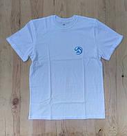 """Белая мужская футболка 100% хлопок """"Adidas"""" с логотипом  ФМ-25"""