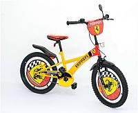 """Велосипед 2-х колёсный 20"""" 112001 (1) Феррари, со звонком, зеркалом, вставками в колесах"""