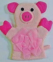 "Мочалка- перчатка банная ""Свинка""."