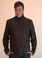Куртка мужская большого размера из экокожи OS, фото 2