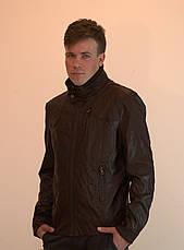 Куртка мужская большого размера из экокожи OS, фото 3