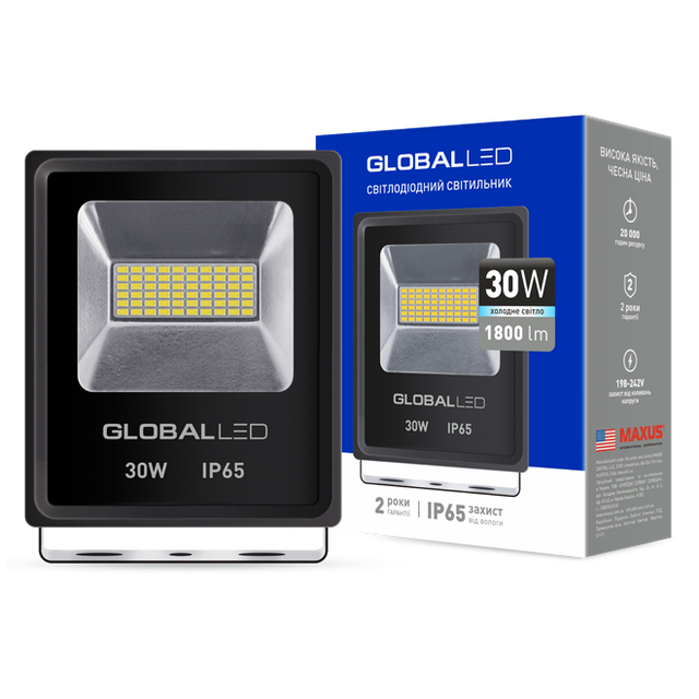 Прожектор светодиодный LED GLOBAL FLOOD LIGHT 30W 5000K