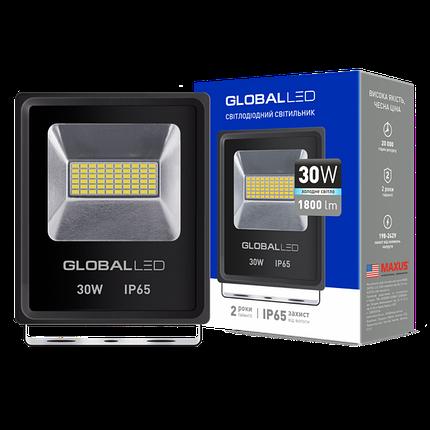 Прожектор светодиодный LED GLOBAL FLOOD LIGHT 30W 5000K, фото 2