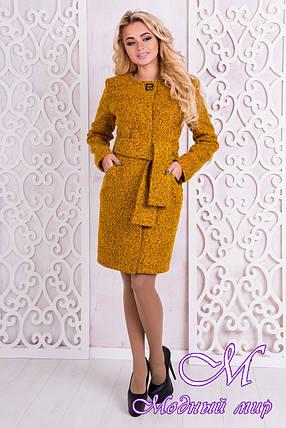 Женское весеннее пальто до колена (р.S, M, L) арт. Луара лайт крупное букле 10099, фото 2