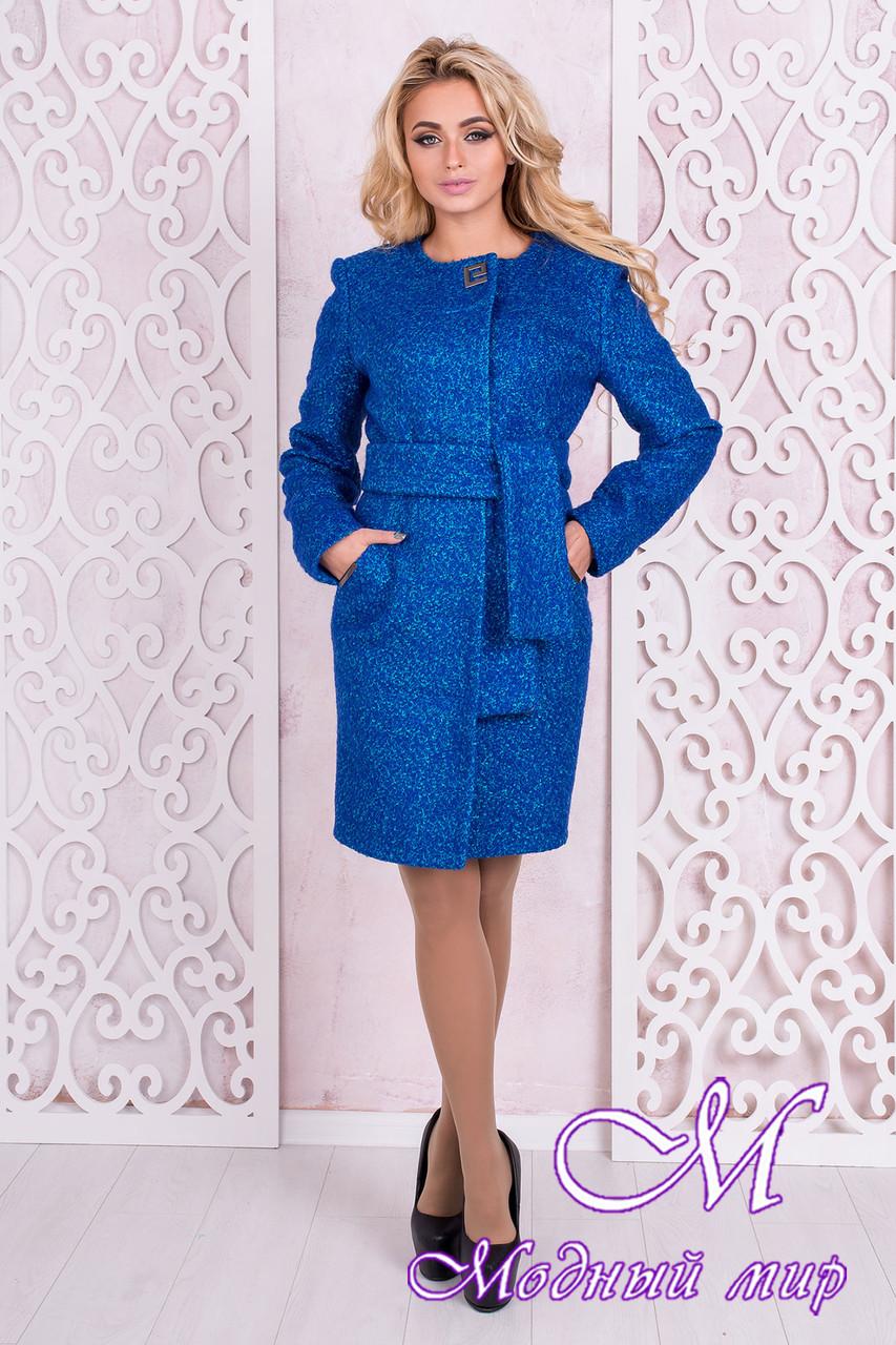 Женское осеннее пальто до колена (р.S, M, L) арт. Луара лайт крупное букле 10098