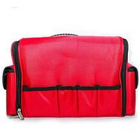 Профессиональный алюминиевый кейс для косметики - CaseLife TEX Красный - TEX-RED