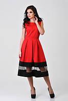 Платье женское стильное элегантное красное