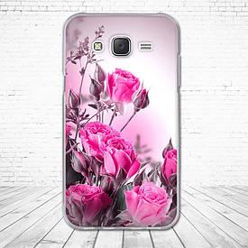 Силіконовий чохол для Samsung Galaxy J5 J500h з картинкою троянди