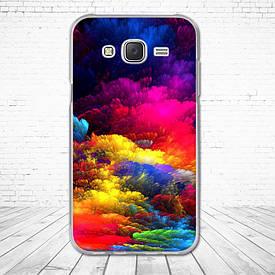 Силіконовий чохол для Samsung Galaxy J5 J500h з картинкою акварель
