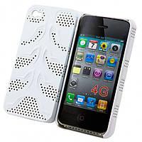 Чехол-накладка для iPhone 4-4S, сетка белый  - оптом по 5 грн