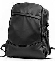 Рюкзак экокожа PU городской мужской. Черный.