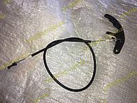 Трос привода замка капота Заз 1102,1103,Таврия Славута  узкая ручка(тяга-трос)
