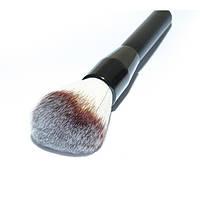 Синтетическая кисть для пудры на металлической черной ручке К47 - K47