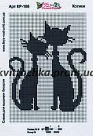 """Схема для вышивания бисером """"Котики"""""""