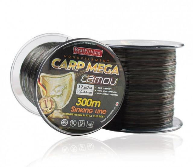 Леска bratfishing carp mega camou 300м