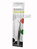 Пинцет закругленный Tweezer Baku 7-SA