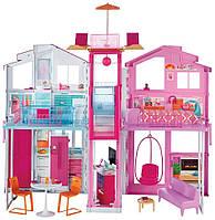 Городской дом мечты Барби Малибу с лифтом Barbie Pink Passport 3-Story Townhouse DLY32